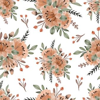 오렌지 꽃 꽃다발의 완벽 한 패턴