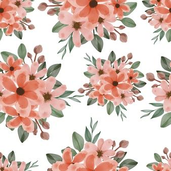 오렌지 꽃의 완벽 한 패턴