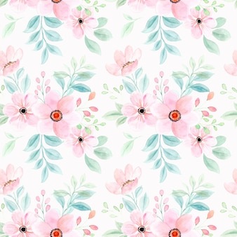Бесшовный фон из розовых цветов акварели