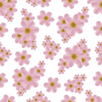 生地と背景のデザインのためのピンクの花びらのシームレスなパターン
