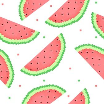픽셀화 수박의 원활한 패턴
