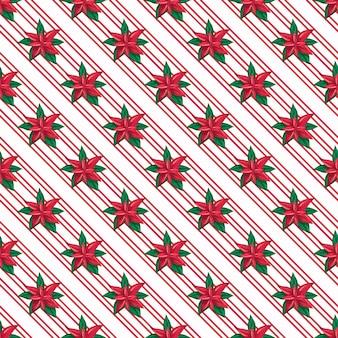 포인세티아 크리스마스 수채화 패턴의 원활한 패턴