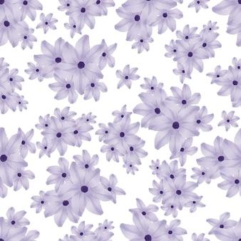 보라색 꽃의 완벽 한 패턴