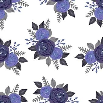 Бесшовный фон из букета фиолетовых роз