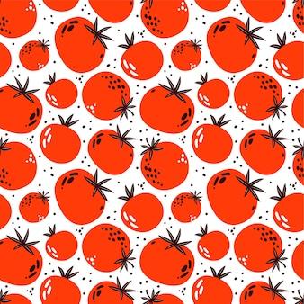 빨간 토마토의 완벽 한 패턴입니다.
