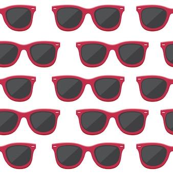 レトロなサングラスのシームレスなパターン