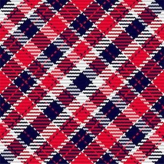 スコットランドのタータンチェック柄のシームレスパターン。生地の質感を確認してください。