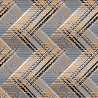 Бесшовный фон из шотландского пледа тартана. повторяемый фон с проверкой текстуры ткани. плоский векторный фон полосатой текстильной печати.