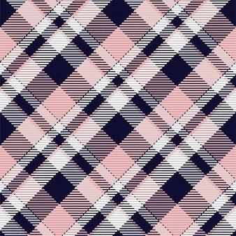 스코틀랜드 타탄 체크 무늬의 완벽 한 패턴입니다. 체크 패브릭 질감이 있는 반복 가능한 배경. 줄무늬 섬유 인쇄의 평면 벡터 배경입니다. 프리미엄 벡터