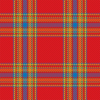 Бесшовный фон из шотландского шотландского пледа. повторяемый фон с проверкой текстуры ткани. плоский векторный фон полосатой текстильной печати.
