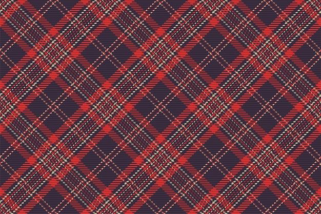スコットランドのタータンチェック柄のシームレスパターン。チェック生地の質感と繰り返し可能な背景。