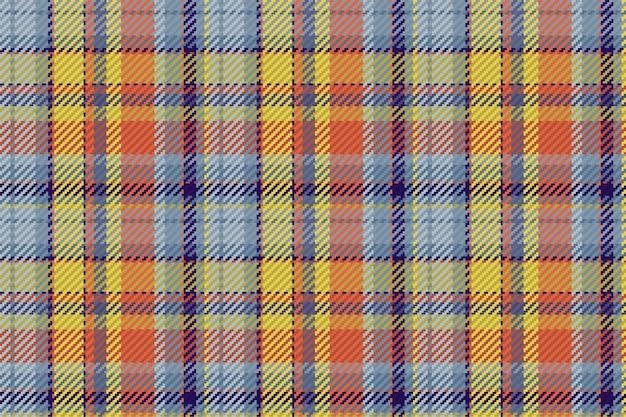 스코틀랜드 타탄 체크 무늬의 완벽 한 패턴입니다. 체크 패브릭 질감이 있는 반복 가능한 배경. 프리미엄 벡터