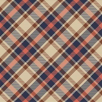 스코틀랜드 타탄 무늬의 완벽 한 패턴입니다. 반복 가능한 체크 패브릭 질감.