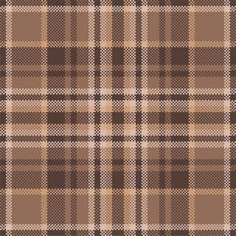 スコットランドのタータンチェック柄のシームレスパターン。繰り返しチェック生地の質感。