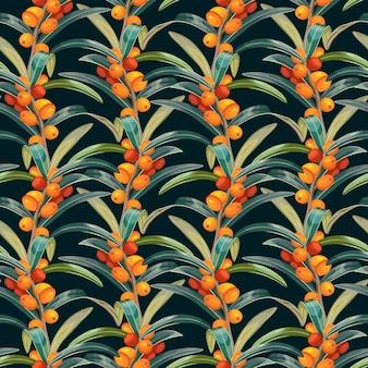 シーバックソーンのシームレスなパターン。