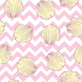 貝殻のシームレスパターン