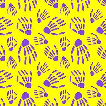 スケルトンの手のシームレスなパターン。骨のパターン。ハロウィーンと死者の日のデザイン
