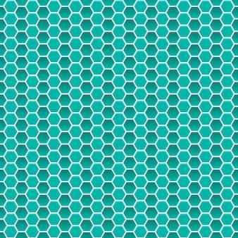 청록색 색상의 작은 육각형의 원활한 패턴