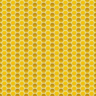 노란색 색상의 작은 육각형의 원활한 패턴