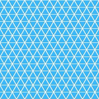 밝은 파란색 색상의 작은 삼각형의 원활한 패턴