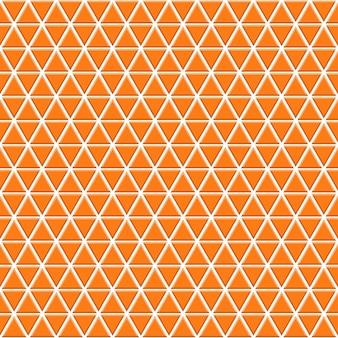 オレンジ色の小さな三角形のシームレス パターン