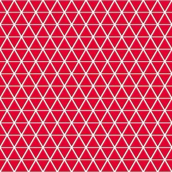 赤い色の小さな三角形のシームレスなパターン