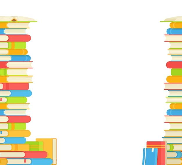 도서관에서 책을 읽는 책 그림의 원활한 패턴 새로운 언어 학습