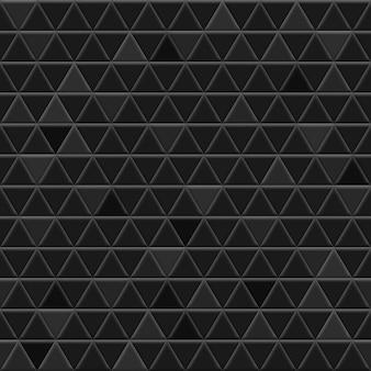 黒い色の三角形のタイルのシームレスなパターン