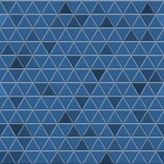 青い色の三角形のタイルのシームレス パターン