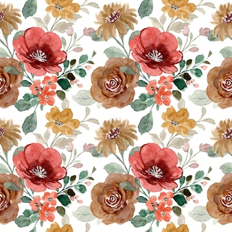 수채화 꽃의 완벽 한 패턴