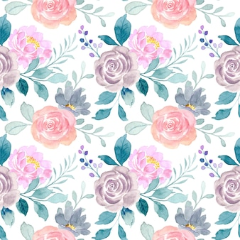 水彩のバラの花のシームレスなパターン