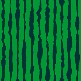 スイカの皮のシームレスなパターンの手描きの形の図