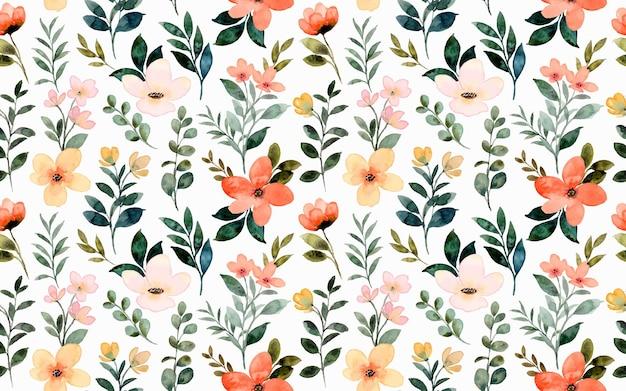 야생 꽃 수채화의 완벽 한 패턴
