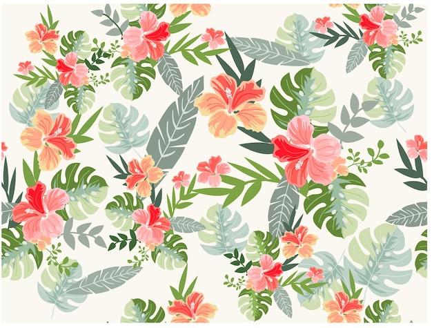 야생의 꽃의 완벽 한 패턴