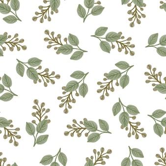 직물 디자인을 위한 노란색 꽃봉오리의 원활한 패턴