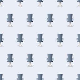 원활한 패턴 사무실의 자입니다. 상사를 위한 사무실 의자의 벡터 삽화. 비즈니스 테마의 배경에 좋습니다.