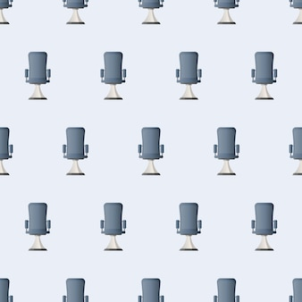 Seamless pattern office chair. vector illustration of an office chair for a boss. good for a background on a business theme.