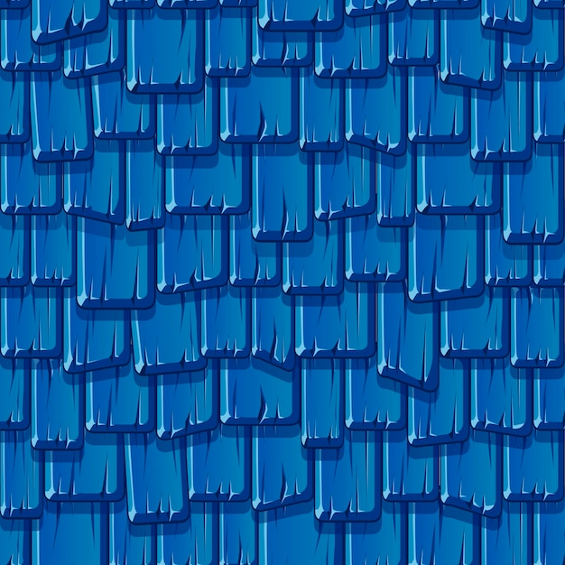Seamless pattern of the old wooden blue roof. textured background of a beaten vintage roof.