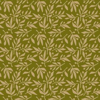 Seamless pattern olive branch