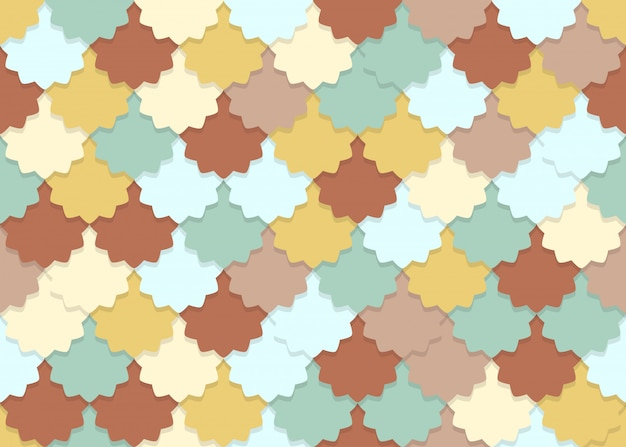 Seamless pattern of overlapping flower shape pastel