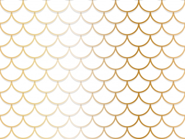 Seamless pattern of overlapping golden and white circle