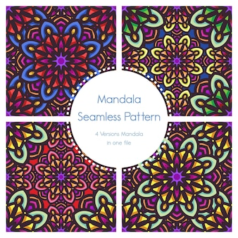 Seamless pattern pack background mandala ornamental