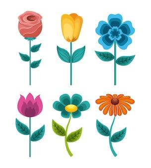 シームレスな模様の花