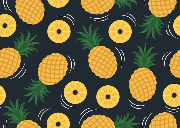 Seamless pattern of pineapple pattern