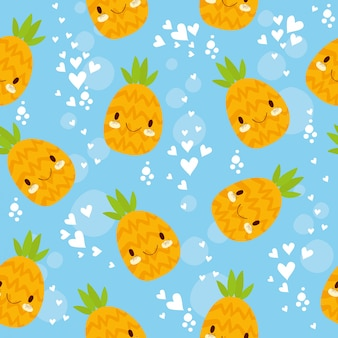 Seamless pattern pineapple
