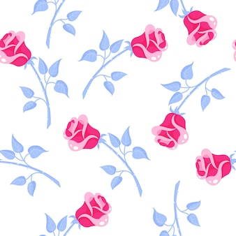 Seamless pattern of pink roses for the wedding