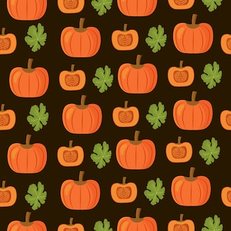 Seamless pattern pumkin thanksgiving