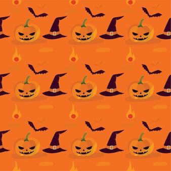 Seamless pattern of pumpkin