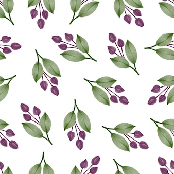 Seamless pattern of purple bud for fabric design
