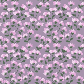 Seamless pattern purple flower